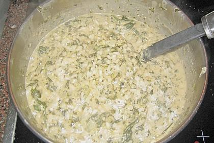 Risotto mit Spinat und Gorgonzola 50