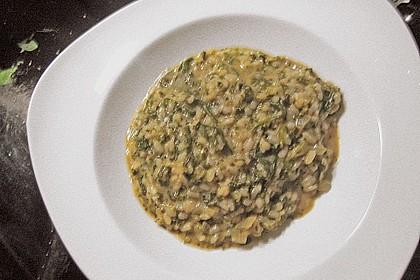 Risotto mit Spinat und Gorgonzola 51