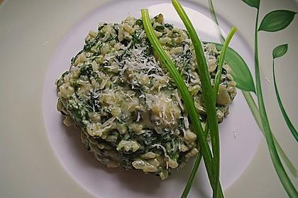 Risotto mit Spinat und Gorgonzola 2