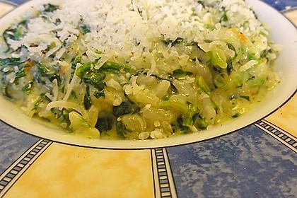 Risotto mit Spinat und Gorgonzola 35