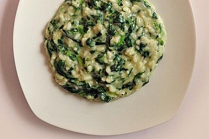 Risotto mit Spinat und Gorgonzola 12