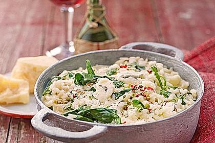 Risotto mit Spinat und Gorgonzola