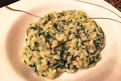 Risotto mit Spinat und Gorgonzola 6