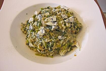Risotto mit Spinat und Gorgonzola 17