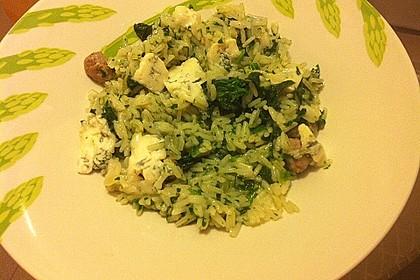 Risotto mit Spinat und Gorgonzola 34
