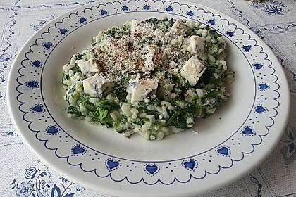 Risotto mit Spinat und Gorgonzola 13