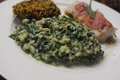 Risotto mit Spinat und Gorgonzola 4