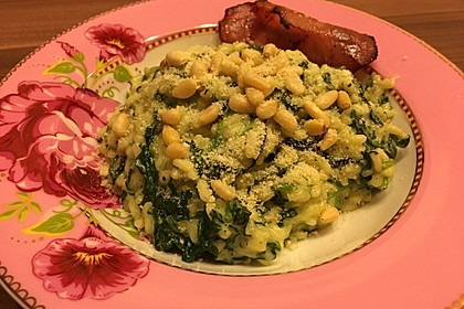 Risotto mit Spinat und Gorgonzola 23