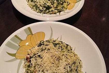 Risotto mit Spinat und Gorgonzola 16