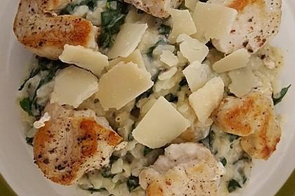 Risotto mit Spinat und Gorgonzola 24