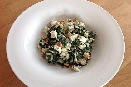 Risotto mit Spinat und Gorgonzola 8