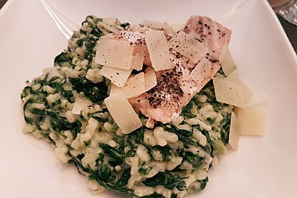 Risotto mit Spinat und Gorgonzola 9