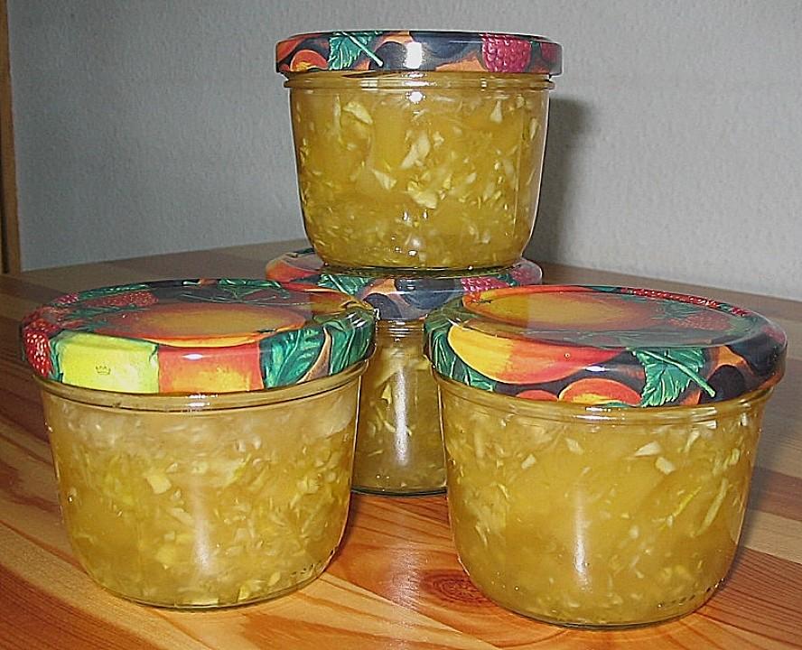 zucchini ananas marmelade rezept mit bild von skadel. Black Bedroom Furniture Sets. Home Design Ideas