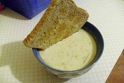 Porree-Käsesuppe mit Hack 10