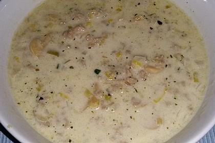 Porree-Käsesuppe mit Hack 4