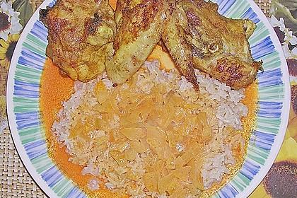 Curryhähnchen mit Reis 1