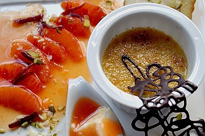 Crème brûlée mit Orange 1
