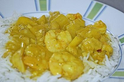 Ananas - Fisch - Ragout