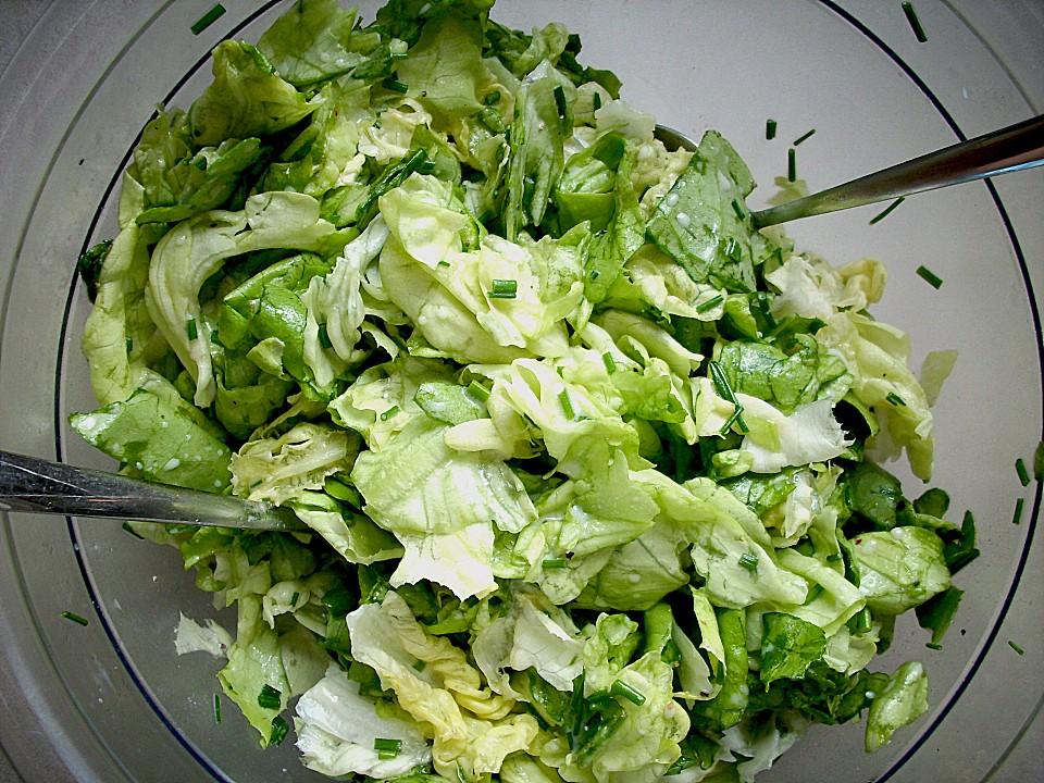 Grüner Salat mit Zitrone von monika_m   Chefkoch.de