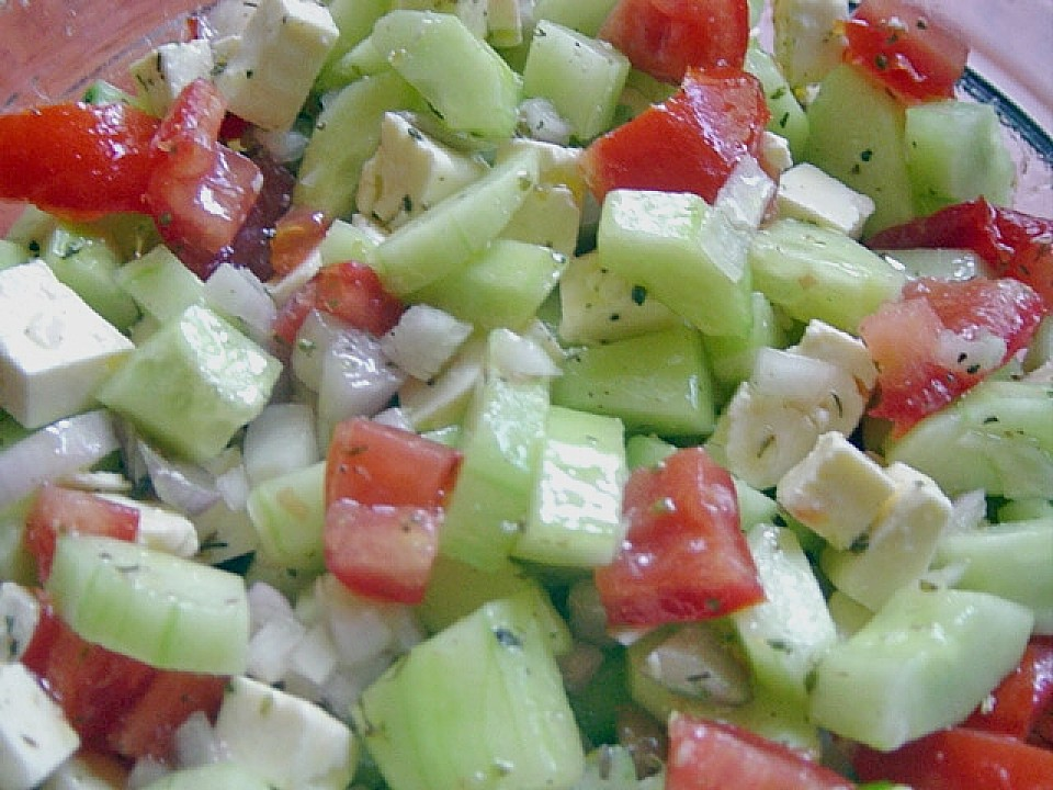 Salat rezepte tomaten gurken paprika