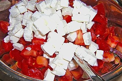 Gurken, Tomaten, Feta Salat 24