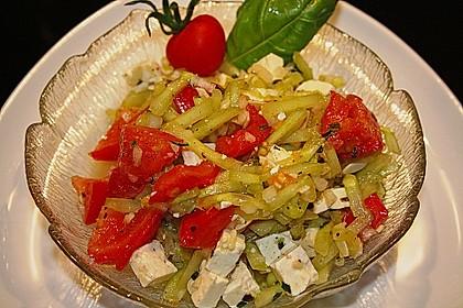 Gurken, Tomaten, Feta Salat 10