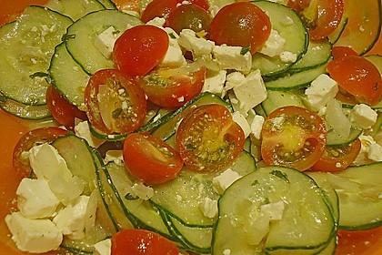 Gurken, Tomaten, Feta Salat 17
