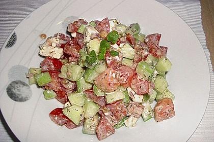 Gurken, Tomaten, Feta Salat 22