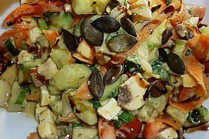 Gurken, Tomaten, Feta Salat 23