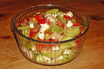 Gurken, Tomaten, Feta Salat 5