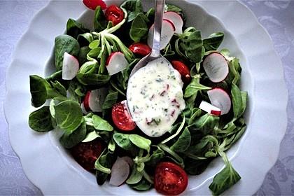 Feldsalat mit Sahne-Speck-Sauce 23
