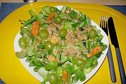Feldsalat mit Sahne-Speck-Sauce 41