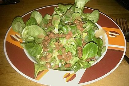 Feldsalat mit Sahne-Speck-Sauce 35