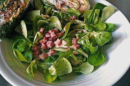 Feldsalat mit Sahne-Speck-Sauce 9