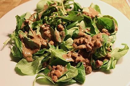 Feldsalat mit Sahne-Speck-Sauce 10