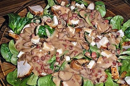 Feldsalat mit Sahne-Speck-Sauce 19