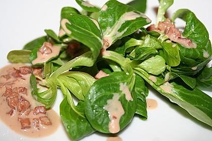 Feldsalat mit Sahne-Speck-Sauce 1