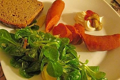 Feldsalat mit Sahne-Speck-Sauce 34