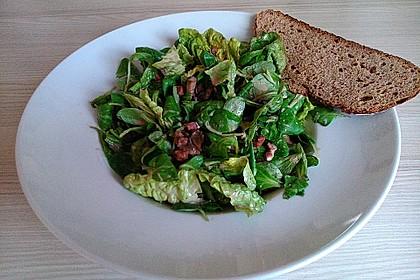 Feldsalat mit Sahne-Speck-Sauce 15