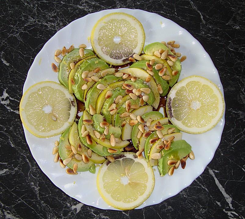Avocado birnen salat