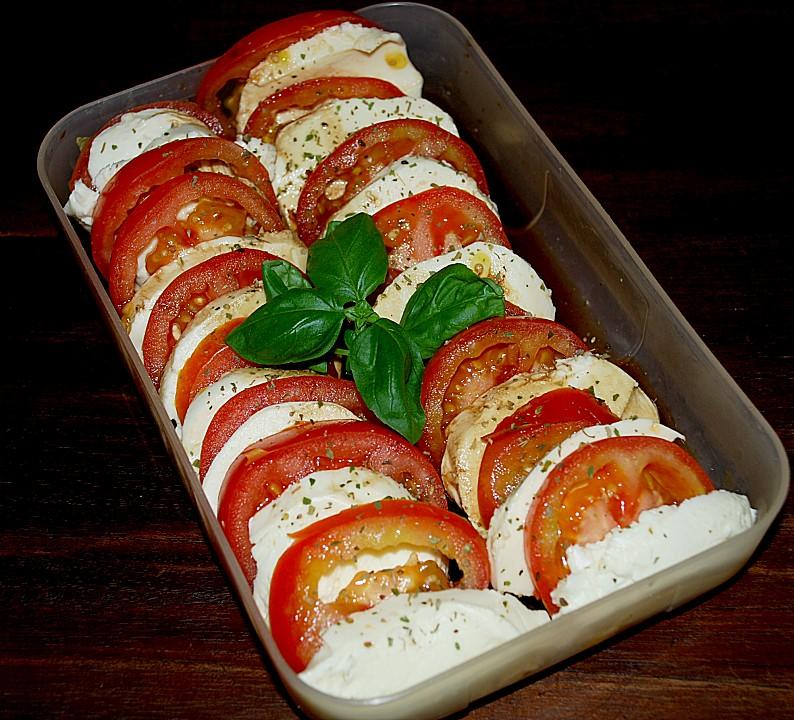 mozzarella mit tomaten rezept mit bild von medeia. Black Bedroom Furniture Sets. Home Design Ideas
