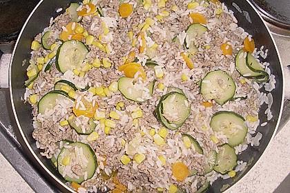 Zucchini - Gemüse - Pfanne mit Hackfleisch und Reis 7