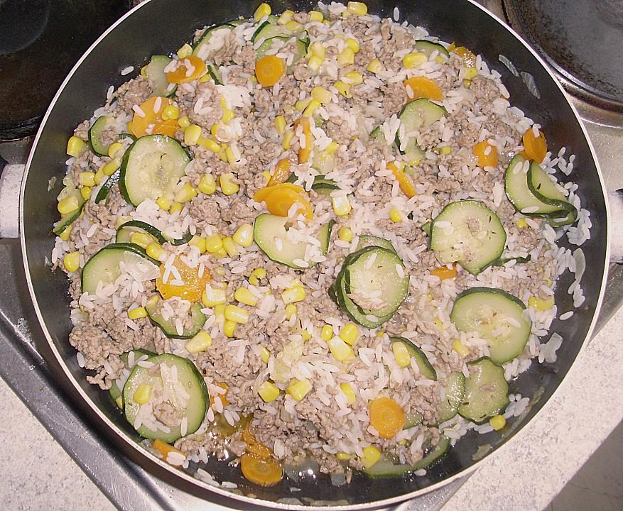 zucchini hackfleisch reis pfanne
