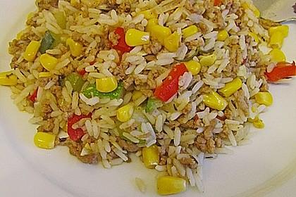 Zucchini - Gemüse - Pfanne mit Hackfleisch und Reis 4