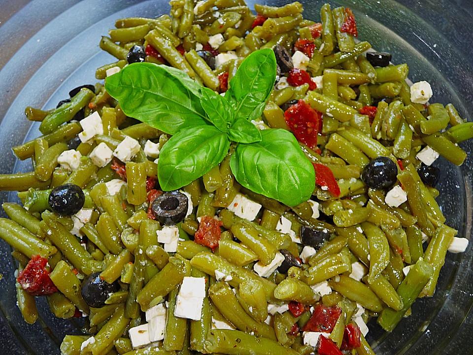 Griechischer bohnensalat mit feta