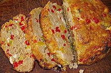 Paprika-Feta-Hackbraten aus dem Backofen