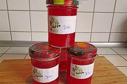 Holunderblüten - Gelee mit Roséwein und Erdbeerstückchen 3