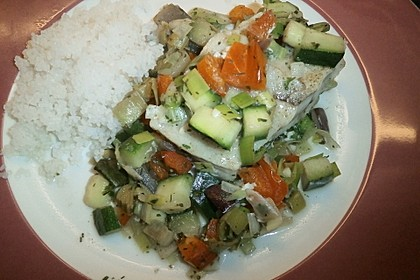 Gemüsefisch in Alufolie 10