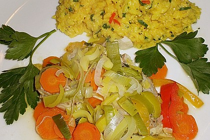 Gemüsefisch in Alufolie 1
