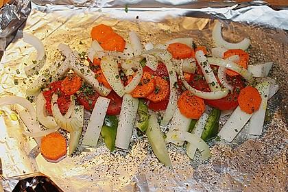 Gemüsefisch in Alufolie 8